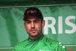 2018 Tour of Britain stage 3 022 Paddy Bevin on the podium.JPG
