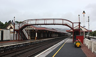 Aviemore railway station Railway station in Highland, Scotland