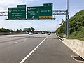2019-05-29 11 30 32 View south along Interstate 95 (Henry G. Shirley Memorial Highway) at Exit 166B (Virginia State Route 286 NORTH-Fairfax County Parkway, Heller Road) on the edge of Newington and Springfield in Fairfax County, Virginia.jpg