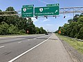 2019-05-29 13 18 08 View north along Interstate 95 and U.S. Route 17 at Exit 130A (Virginia State Route 3 EAST, Fredericksburg) in Fredericksburg, Virginia.jpg