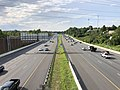 2019-07-24 17 33 17 View west along Interstate 695 (Baltimore Beltway) from the overpass for Lillian Holt Drive in Overlea, Baltimore County, Maryland.jpg