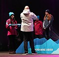 2020-01-13 Ski Mountaineering at the 2020 Winter Youth Olympics – Women's Sprint – Medal ceremony (Martin Rulsch) 16.jpg