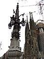 295 Fanal de l'av. Gaudí, cantonada c. Provença, al fons la Sagrada Família.JPG