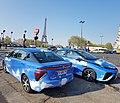 2 taxis de la marque Toyota Mirai fonctionnant à l'hydrogène appartenant à la société hype.jpg