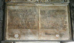 Francesco Piccinino - Latin epitaph of Francesco Piccinino.