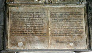 Epitaffio latino dei Piccinino nel Duomo di Milano.