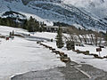 4-4-12-Many Glacier Hotel from bridge (7047925305).jpg
