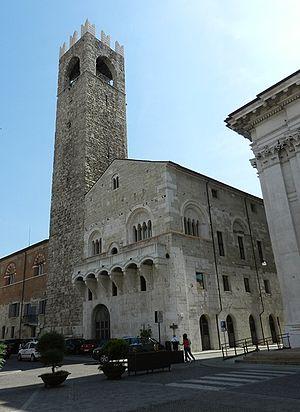 Broletto, Brescia - Piazza Balcony and Tower of Broletto.