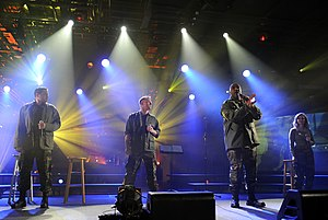 4troops - 4TROOPS performing aboard the USS Intrepid in New York City during a taping of a PBS television special in 2010