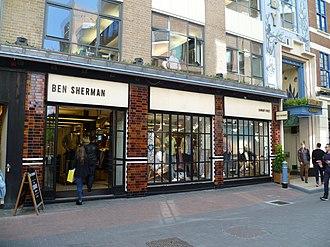 Ben Sherman - A Ben Sherman shop in Carnaby Street, London