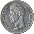 5 francs Charles X 1826 Avers.png
