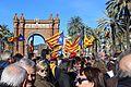 6 febrer 2017 Concentració davant del Tribunal Superior de Justícia en suport als inculpats Artur Mas Joana Ortega i Irene Rigau per la consulta democràtica sobre la independència del 9 de Novembre de 2014 9N 7.jpg