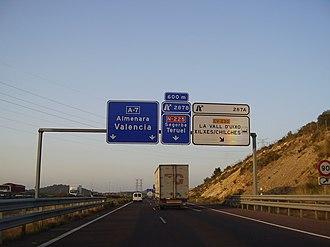 Autovía A-7 - Image: A 7 CHILCHES