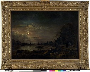 Riviergezicht met maanlicht