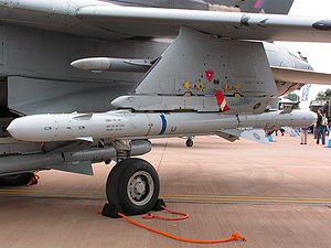 Anti-radiation missile - ALARM under the wing of a Tornado