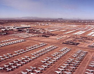 Davis–Monthan Air Force Base - Aircraft Maintenance and Regeneration Group (AMARG) boneyard at Davis-Monthan Air Force Base