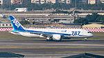 ANA Boeing 787-8 JA815A Landing down Taipei Songshan Airport 20141230b.jpg