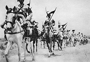 March of the Iron Will - Italian colonial troops advancing on Addis Ababa
