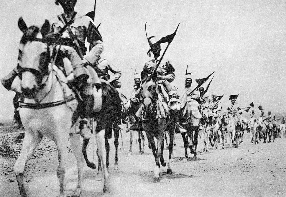 AO-Etiopia-1936-H-Cavalleria-indigena-verso-Addis-Abeba