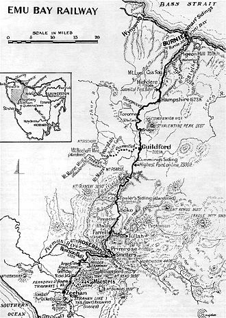 Melba Line - Map of the original route
