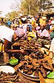 ASC Leiden - W.E.A. van Beek Collection - Dogon markets 09 - Smoked catfish at the Sangha market, Mali 1992 (cropped).jpg