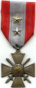 AVERS Croix de Guerre TOE France 2 citations.jpg