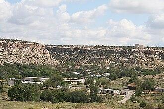 Keams Canyon, Arizona - Keams Canyon, as seen from the Arizona SR 264, looking east