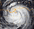 A Geostationary Operational Environmental Satellite-13 infrared satellite image of Tropical Storm Isaac provided by the U.S. Naval Research Laboratory in Monterey, Calif., shows the storm at 3 p.m. EST Aug. 28 120828-N-ZZ999-102.jpg