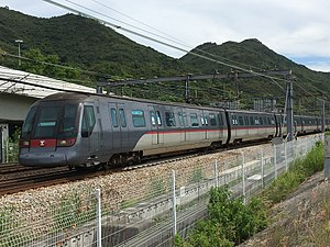 Tung Chung Line - Tung Chung Line train approach Sunny Bay Station
