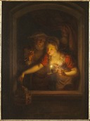 A Woman with a Burning Candle (Alexander Lauréus) - Nationalmuseum - 18220.tif