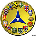 A computer aided graphic designed shield, created for the Fort Hood Training Support Center's 2001 Brochure 010607-A-MX169-001.jpg