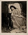 A young girl convalescing in an armchair is visited by her d Wellcome V0015252.jpg
