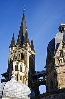 tower of aachen cathedral aix la chapelle cathedral