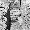 aansluiting noord muur (links) toren met westmuur noord zijbeuk opgraving fundering - batenburg - 20028301 - rce