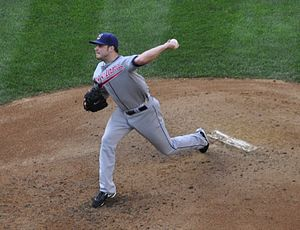 Aaron Laffey - Laffey pitching for the Cleveland Indians in 2009