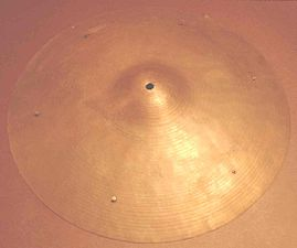 "A traditional 18"" sizzle cymbal with six equally spaced rivets"