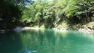 Abasha (river) - The Abasha at the village of Gachedili