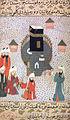 Abdullah ibn Masud verliest vor den Quraisch in Mekka den Heiligen Qur'an (Miniatur aus Siyer-i-Nebi 1595 n.Chr.).jpg