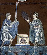 Abel and Cain offer their sacrifice to God.jpg