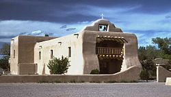 The adobe St. Thomas Church in Abiquiú