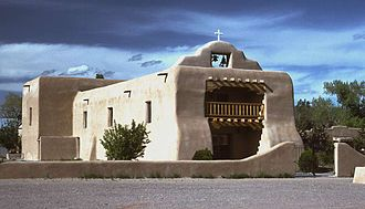 Abiquiú, New Mexico - The adobe St. Thomas Church in Abiquiú