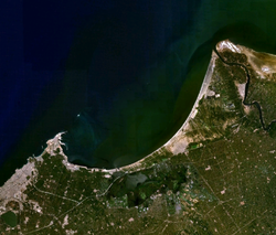 Image satellite de la baie d'Aboukir.