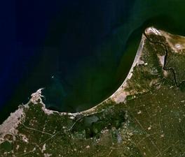 Műholdkép, ha az egyiptomi tengerpart