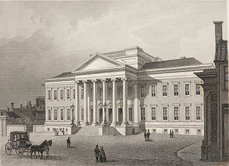 University of Groningen - The 19th-century main building in 1858