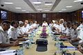 Admiral RK Dhowan addressing top Naval Commanders at the conclusion of the Naval Commanders' Conference 2015.JPG