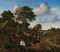 Adriaen van de Velde - Portret van een echtpaar met twee kinderen en een min in een landschap - Google Art Project.jpg