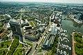 Aerial view of Düsseldorf, seen from Rheinturm, Düsseldorf, Western Germany, Western Europe. May 6, 2013.jpg