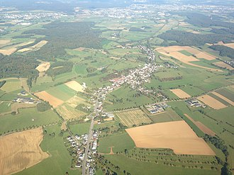 Dippach - Image: Aerial view of Dippach, Luxembourg