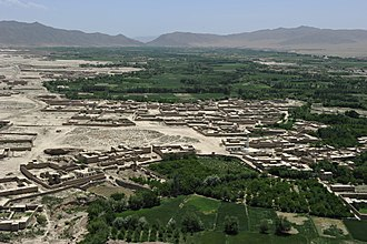 Logar Province - Aerial view of Mohammad Agha District in Logar province