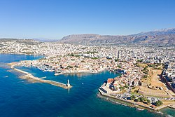 Aerial view of the Old Venetian Harbour in Chania, Greece.jpg